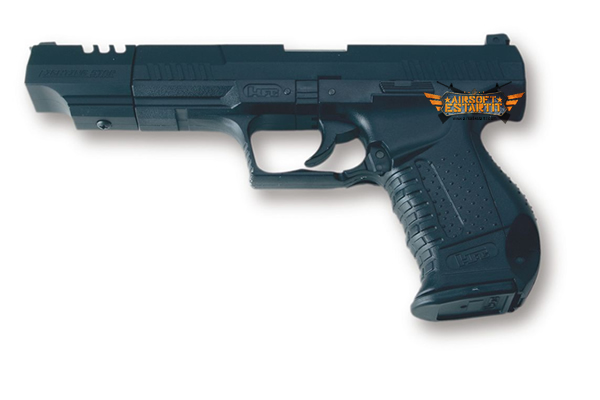 pistol p99 with black compensator