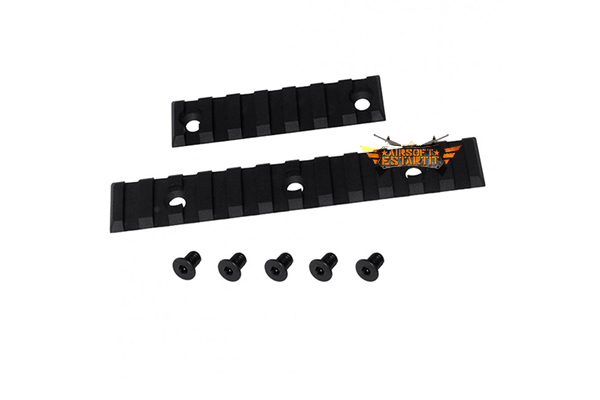 Kit Dytac Accessories Rail Set (1x7 Slot Rail / 1x12 Slot Rail) (Black)