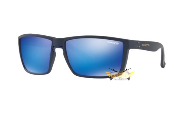 5764895d17c43 Arnette Glasses AN4253 215325 Black Fosco Blue Mirror Lens Tam 61 ...