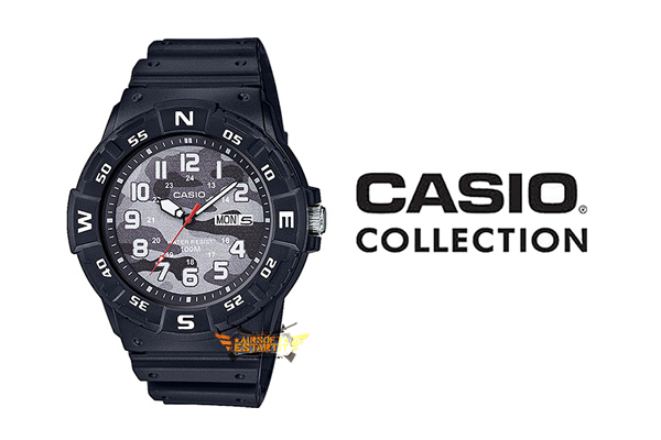 Casio Collection MRW-220HCM-1BVEF Montre Camouflage Noire