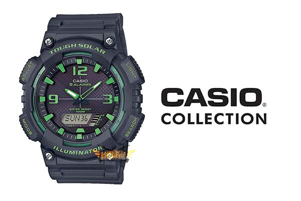 Montre Casio Tough Illuminateur Solaire Vert Noir Casio  5jtbo