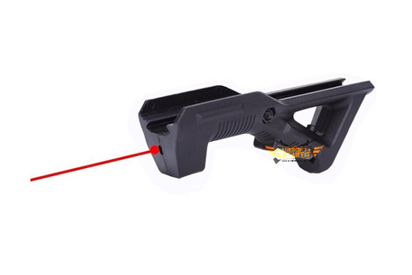 ANGLE GRIP WITH RED LASER BK