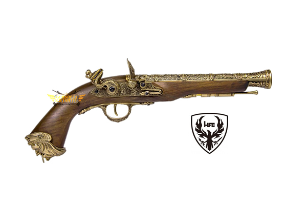 HFC FLINTLOCK GAS PISTOL GOLD (HG 502GOLD)