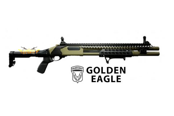 Full metal spring shotgun m870 Golden Eagle tubular stock tan