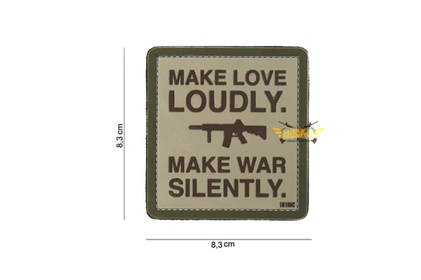 patch 3d pvc make love loudly