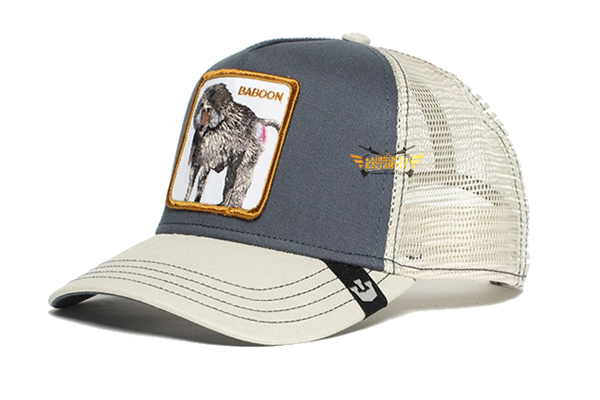 Goorin Bros. Baboon Buthead Gray and White Trucker Hat