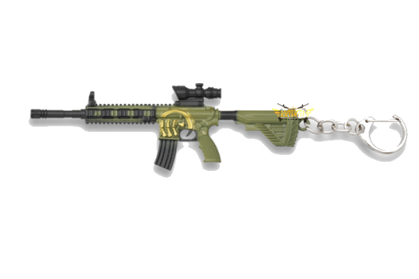green albainox M4 weapon keychain