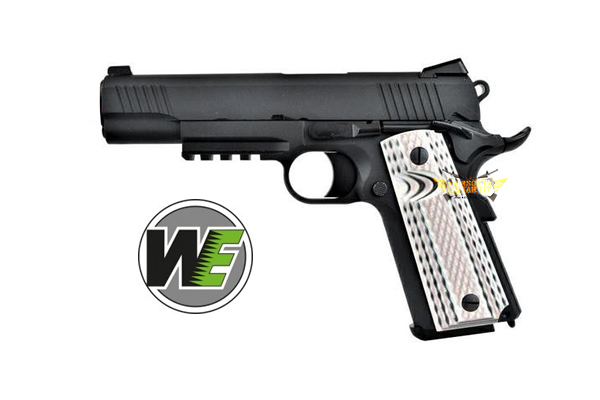 PISTOLET NOIR WE GAS 1911 M45A1 (WE15B)