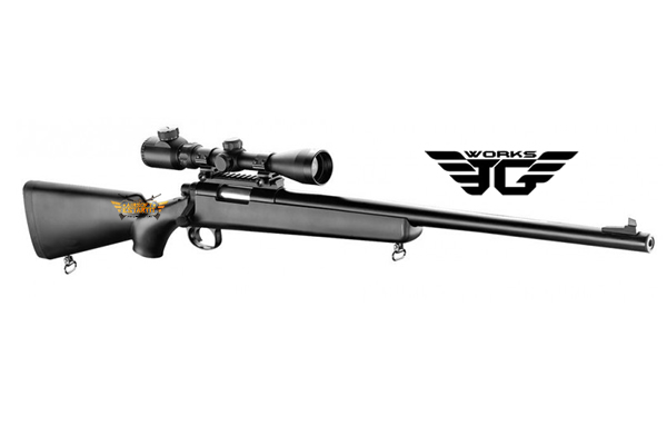vsr10 jg sniper with reinforced piston and 530fps metal trigger with scope