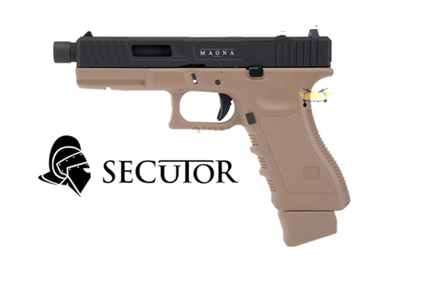 CO2 BLOW BACK GLADIUS MAGNA VI DUAL TONE SECUTOR GUN