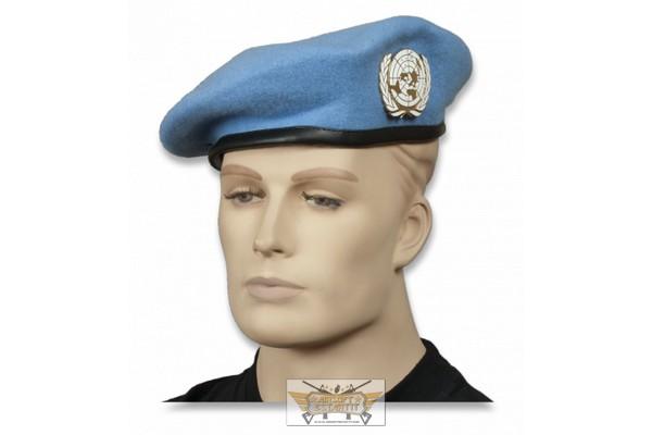 f4f8b7b17a4db Boina azul onu con emblema - Boinas militares y otros - Tienda de ...