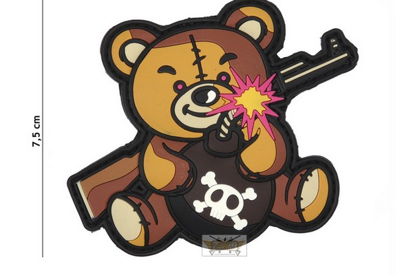 Patch terreur Teddy bear  marron