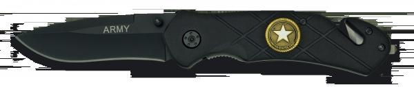 Navaja Asistida Seguridad negra  Mango Aluminio Hoja Acero Inox 8 cm P 19815-A