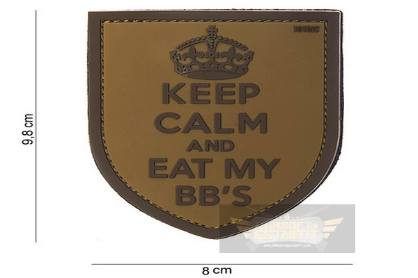 Parche PVC Keep Calm and eat My BBs