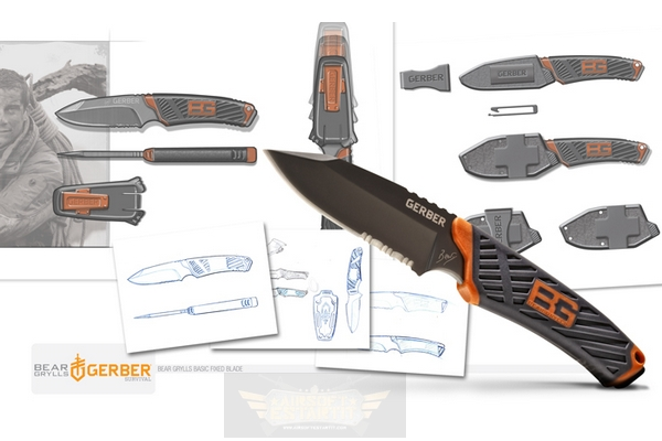 Oakley Drop Point >> Cuchillo Compact Fixed Blade Bear Grylls - Gerber Bear ...