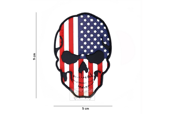 USA flag skull patch