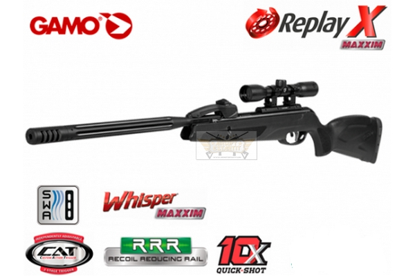 Gamo Air rifle Replay X Maxxim + scope 4 5